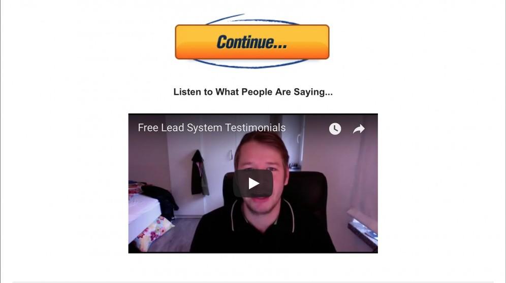Free Lead System Testimonial
