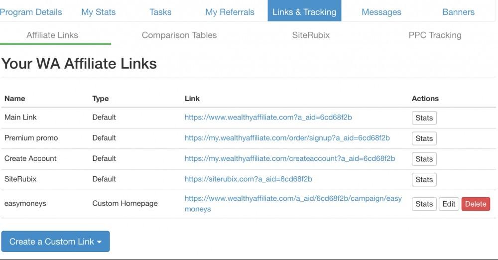 WA Affiliate Links