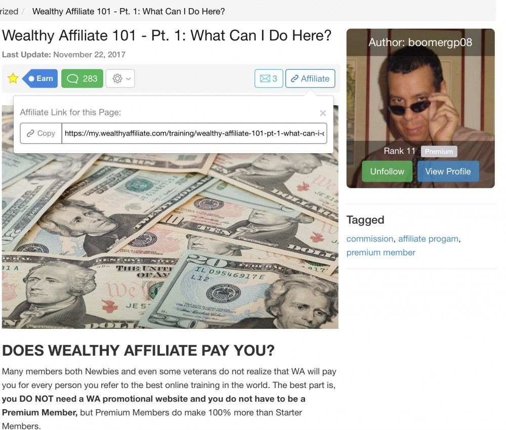 Making Money With The WA Platform