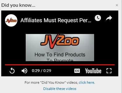 JVZoo Permission to Promote Products