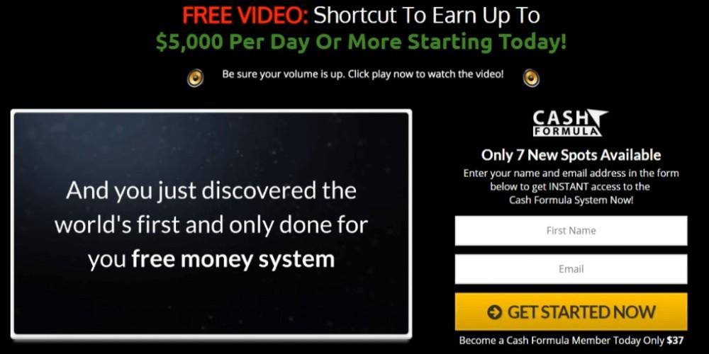 Cash Formula Review - Scam or make $5,000 per day? | Grateful Affiliate