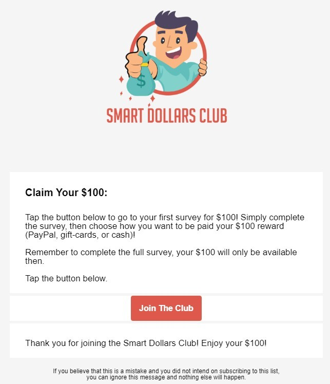 Smart Dollars Club - Email