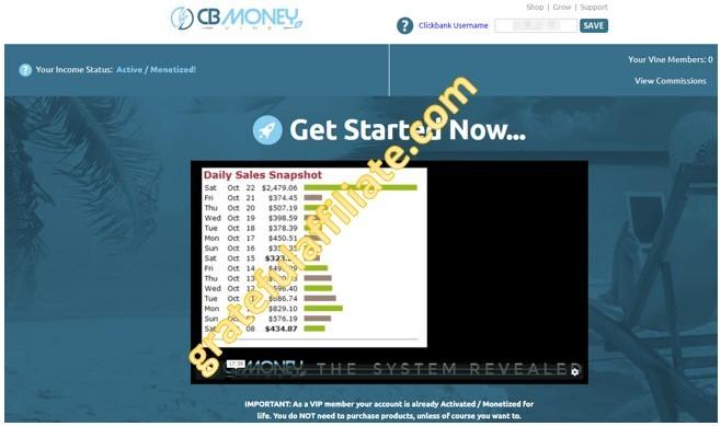 CB Money Vine Member Area