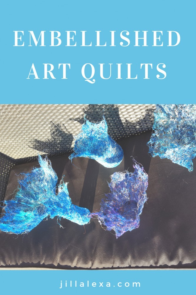 Meet Dal Botha, our 5th Star of the Sew, and the creator of these Silk Thread Sculptured bowls and stunning Embellished Art Quilts. Read more at JillAlexa.com #embellishedartquilts