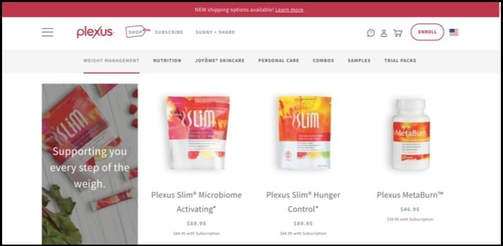 Plexus Worldwide sells nutritional products mostly.