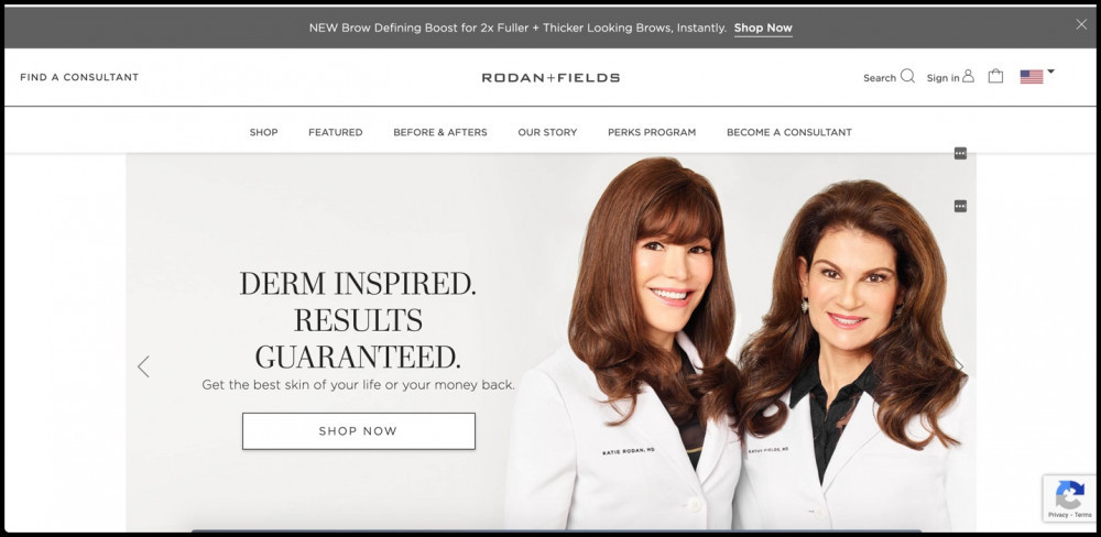 Rodan and Fields homepage
