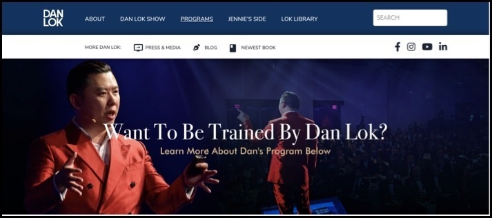 Dan Lok has different programs where you can learn from him.