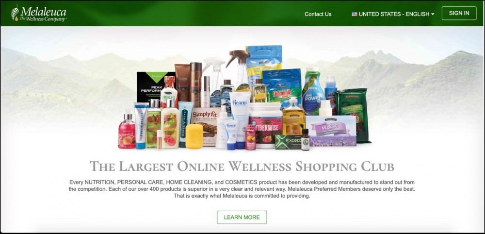 Melaleuca homepage