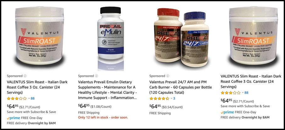 Valentus products are expensive
