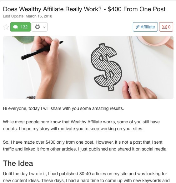 Affiliate Marketing Success Story 10