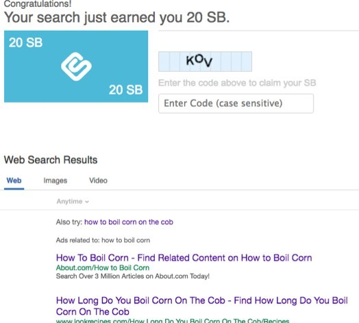 Earn Swagbucks by using their search