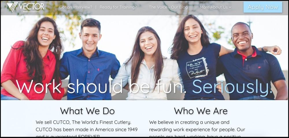 Vector Marketing homepage