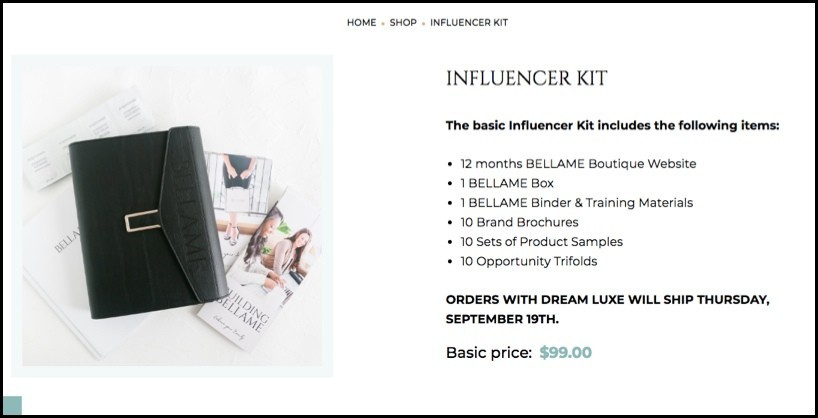Bellame Influencer Kit