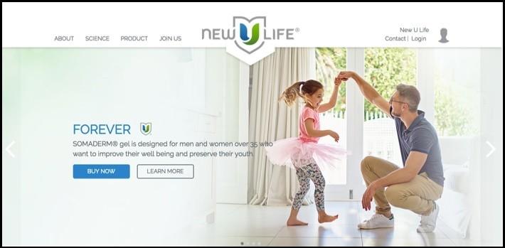 NewULife's homepage.