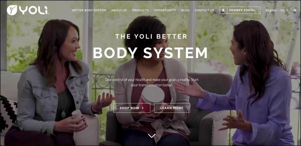 Yoli homepage.