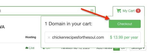 Web Name Checkout