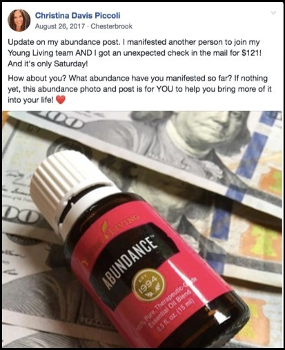 I made annoying posts about Young Living