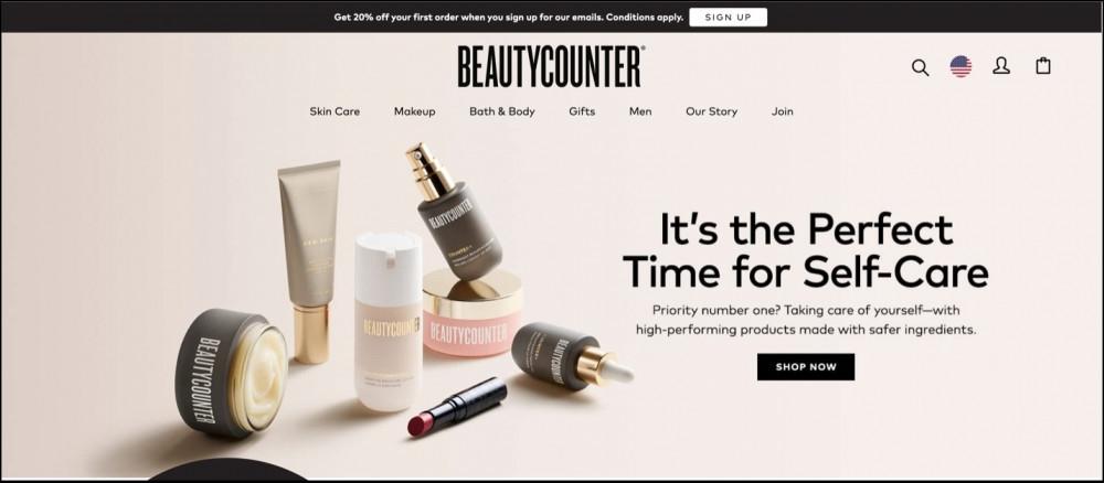 Beautycounter homepage