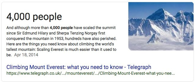 4000 People have climbed Mount Everest