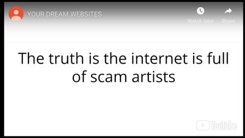 Scam artists from Your Dream Websites