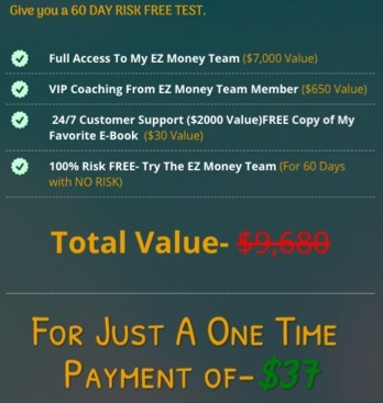 EZ Money Team Payment