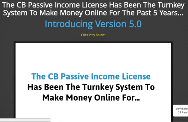 CB Passive Income Sales Page