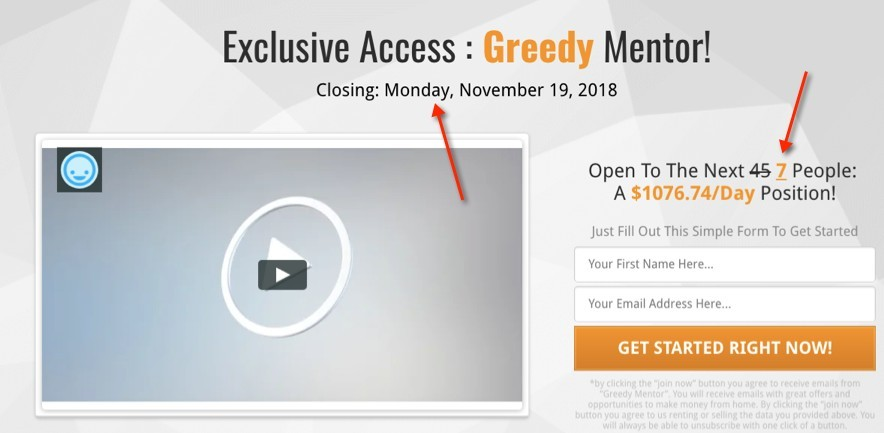 Greedy Mentor Sales Video Refreshed