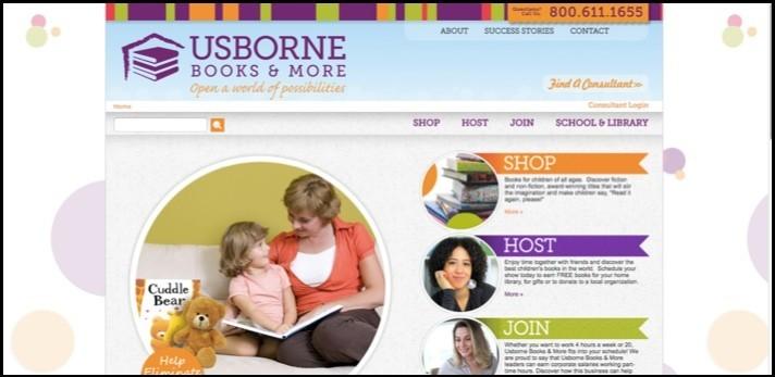 Usborne Books Homepage.
