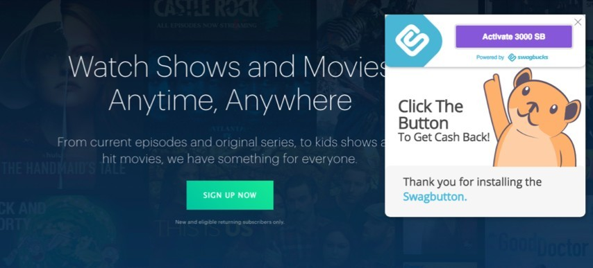 Sign up for Hulu and get Swagbucks