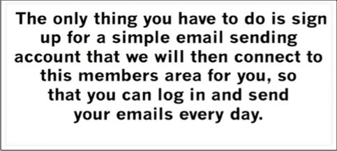 You'll need to sign up for an email service provider
