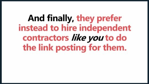 Will you get hired as an independent contractor? No!