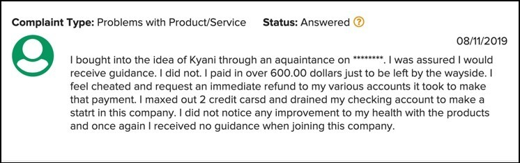 Maxed out credit cards with Kyani