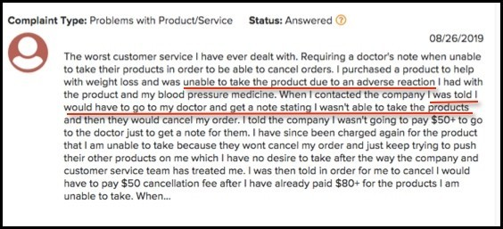 It Works requires a doctor note to cancel, according to this complainer.