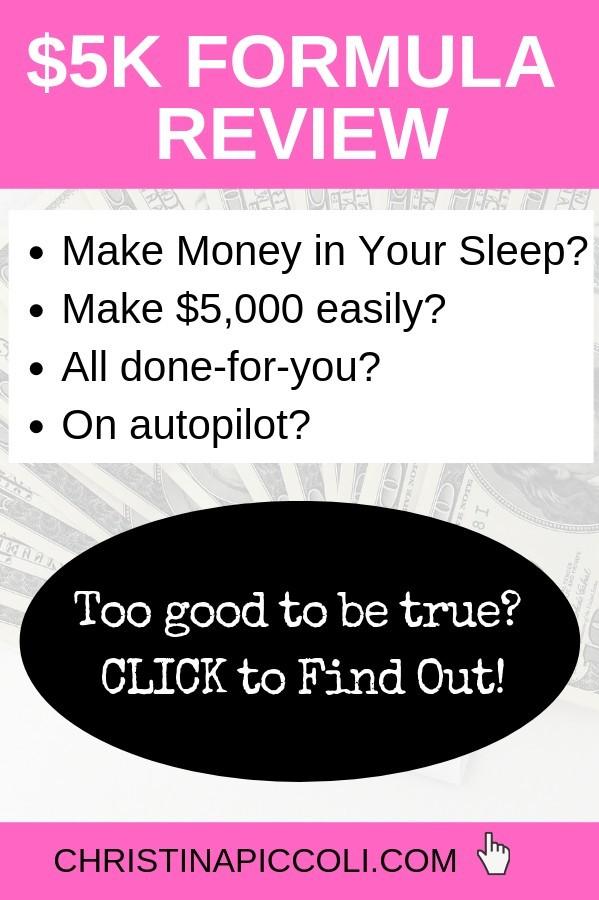 $5k Formula Review for Pinterest