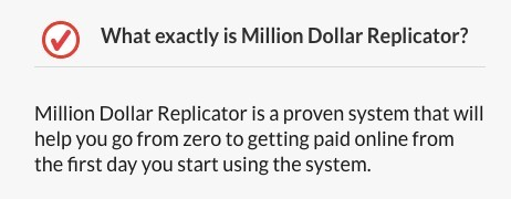 Million Dollar Replicator FAQ 1