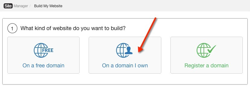 Choose On a Domain I Own