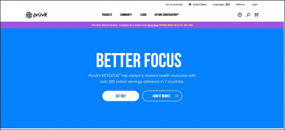 Pruvit Homepage