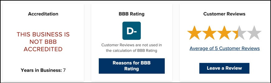 Beautycounter BBB rating