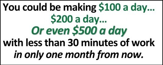 Make $500 a day with 30 minutes of work?