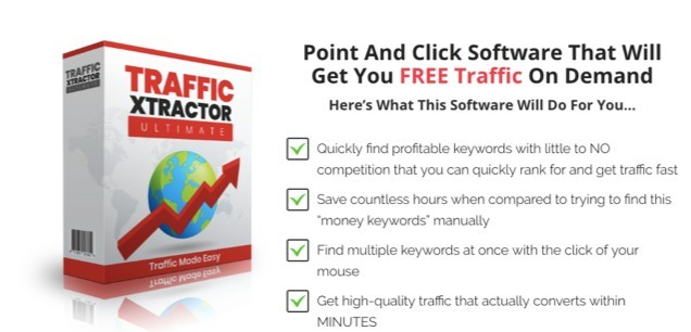 Traffic Xtractor sales page