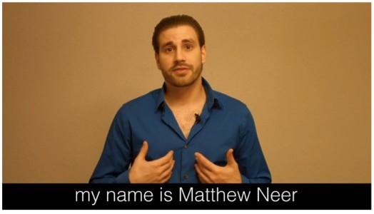 Matthew Neer shows himself