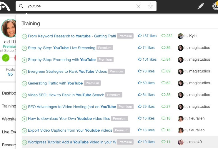 YouTube Training in Wealthy Affiliate