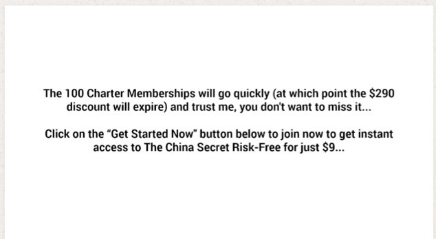 The China Secret 100 Charter Memberships