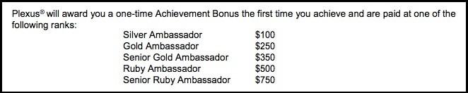 One-time achievement bonus