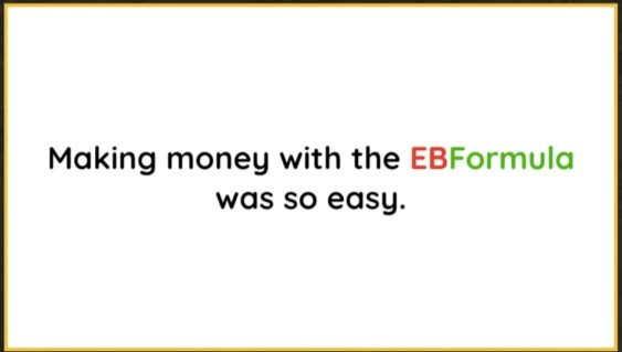 EB Formula Sales Video - It's so Easy