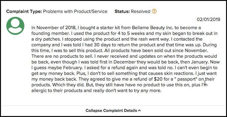Bellame Complaint