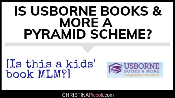 Is Usborne Books & More a pyramid scheme?