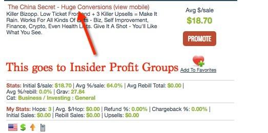 Insider Profit Groups ClickBank