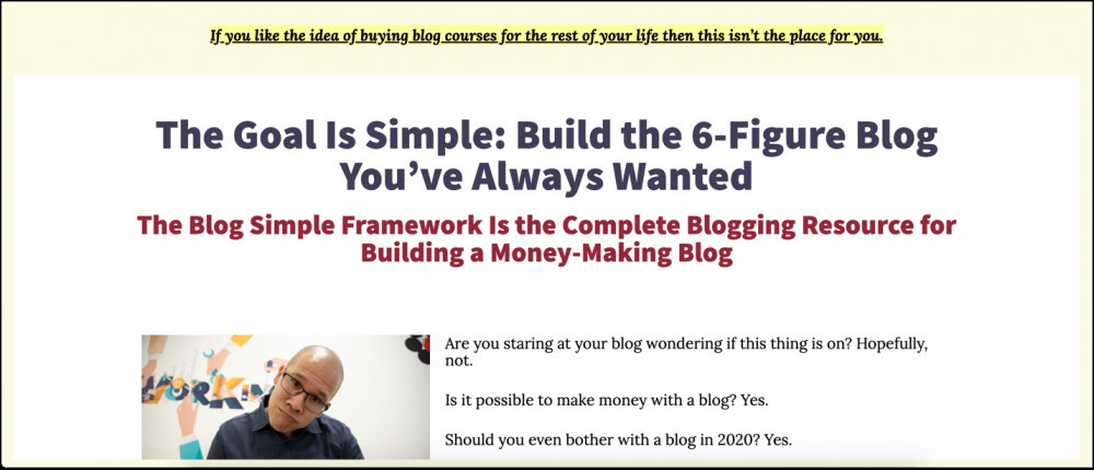 Blog Simple Framework review - make 6 figures with your blog