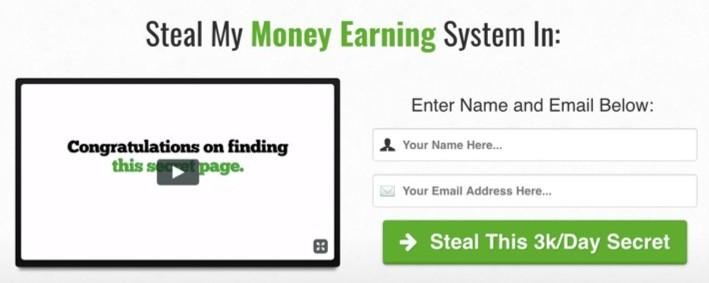Private Cash Sites Sales Page